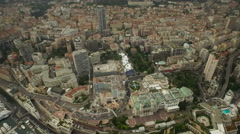 Monaco Aerial semi vertical shot over Monte Carlo Stock Footage