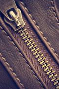 Zipper closed - stock photo