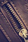 Open zipper - stock photo