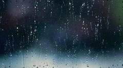 Rainy days, rain drops on the window and heavy rain falling Stock Footage