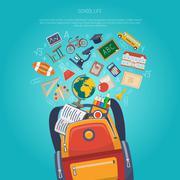 Education Concept Flat Stock Illustration