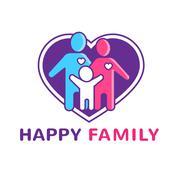 Family Logo Illustration Stock Illustration