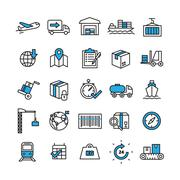 Logistics Icons Set Stock Illustration