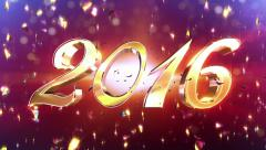 New Year 2016 Animation Stock Footage