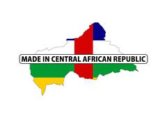 made in central african republic - stock illustration