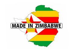 made in zimbabwe - stock illustration