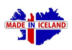 made in iceland - stock illustration