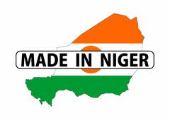 Made in niger Stock Illustration