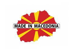 made in macedonia - stock illustration