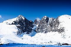 Winter mountain landscape - stock photo
