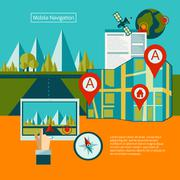 Gps Navigation Concept - stock illustration