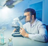 Biotechnological investigation Stock Photos