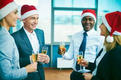 Booze in office Stock Photos