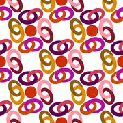pattern colored rings - stock illustration