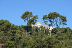 Santa Cristina Shrine near Lloret de Mar, Catalonia, Spain. - stock photo