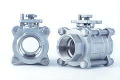 Group 2 ball valves - stock photo