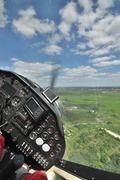 Flying a small plane Stock Photos
