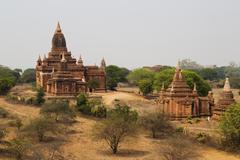 The Temples of Bagan, Pagan, Mandalay, Myanmar, Burma - stock photo