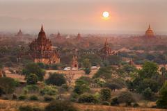 The Temples of Bagan (Pagan), Mandalay, Myanmar, Burma - stock photo