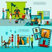 Cinema People Set - stock illustration