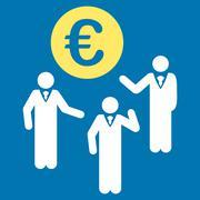 Stock Illustration of Euro Discussion Icon