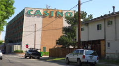 A small and rundown casino sits in an unincorporated neighborhood. Stock Footage