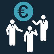 Euro Discussion Icon - stock illustration