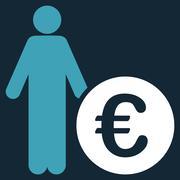 Euro Investor Icon - stock illustration
