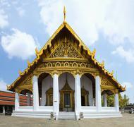 Hor Phra Monthian Dharma, Bangkok, Thailand, Asia. The Scripture library loca - stock photo