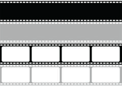 Stock Illustration of vector film strip multi style
