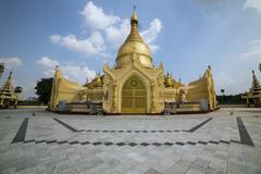 Maha Wizara Pagoda was built in 1980 to commemorate the convening of all sect Stock Photos