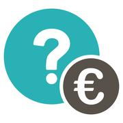 Euro Balance Query Icon - stock illustration