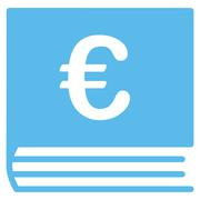 Euro Bookkeeping Icon - stock illustration