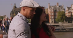 Happy couple taking a selfie in London City. Shot on RED Epic. Stock Footage