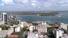 Aerial perspective of dar es salaam city, tanzania Stock Footage