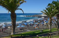 Arena beach in stormy day, Tenerife, Canary islands, Spain. - stock photo