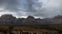 Red Rock Nevada Moving Storm Clouds Time Lapse Stock Footage