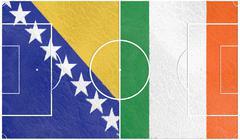 bosnia vs ireland europe football championship 2016 - stock illustration