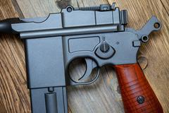 Stock Photo of old Mauser pistol gun