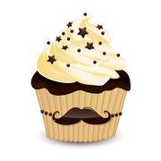 Stock Illustration of Mustache cupcake