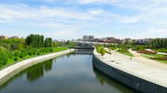 Madrid river Stock Footage
