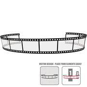 Vector film roll Stock Illustration