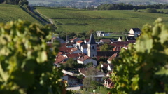 France, Champagne region, village of Baroville Stock Footage