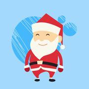 Santa Claus Cartoon Flat Christmas Holiday - stock illustration