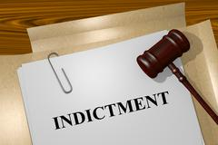 Indictment concept Stock Illustration