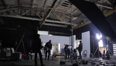 employees of the Studio sets of a film (advertising). Film production - stock footage