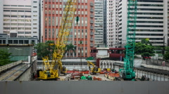Construction Site in Hong Kong Stock Footage