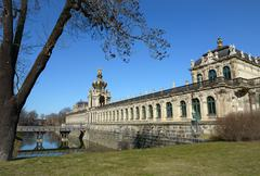 South-eastern side of Zwinger complex in Dresden, Saxony, Germany. - stock photo