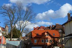Quarter of K. J. Erbena Street in Teplice, Czech Republic. - stock photo