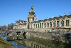 South-eastern side of Zwinger in Dresden, Saxony, Germany. - stock photo